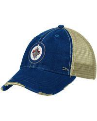 Reebok Nhl Winnipeg Jets Slouch Fit Adjustable Mesh Back Hat - Blue