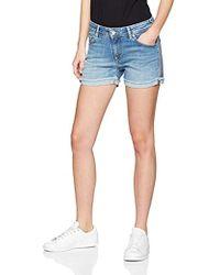 Pepe Jeans Thrasher Bling Pantaloncini Donna - Blu