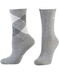 Tom Tailor Socken 2er-Pack Argyle 9879 / Socks 2pack - Grau