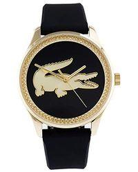 Lacoste Reloj Analógico para Mujer de Cuarzo con Correa en Cuero 2001041 - Negro