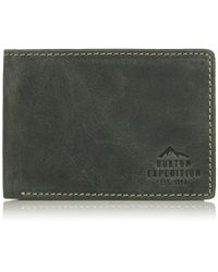 Buxton - Expedition Ii Rfid Blocking Leather Front Pocket Slimfold Wallet - Lyst