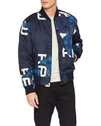 87ff3178a Rackam Sports Padded Bomber Jacket - Blue
