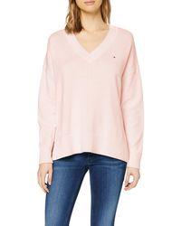 Tommy Hilfiger Kesha V-nk Swtr Sweatshirt - Pink