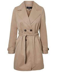 Vero Moda Vmberta 3/4 Jacket Col Trenchcoat - Brown