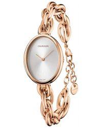 Calvin Klein Statement K9Y23626 Montre Bracelet pour femmes - Métallisé