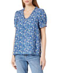 Vero Moda Vmellie S/s Top Wvn Blouse - Blue