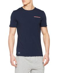 Lacoste French Flag Pocket Lounge Top - Blue