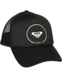 Roxy Truckin Trucker Hat Baseball Cap - Schwarz