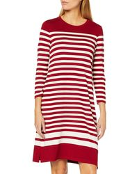 GANT D1. Striped Shift Dress Vestito - Rosso