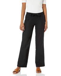 Amazon Essentials Linen Blend Drawstring Wide Leg Pants - Schwarz