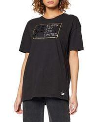 Superdry Mila Oversized Graphic Tee T-Shirt - Noir