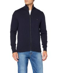 Tommy Hilfiger - Pima Cotton Cashmere Zip Through Gilet, - Lyst