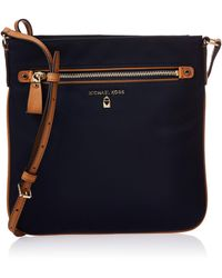 Michael Kors Michael By Kelsey Admiral Nylon Large Crossbody One Size Admiral - Black