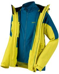 Regatta S Sacramento Iii Waterproof Taped Seam 3-in-1 Jacket - Yellow