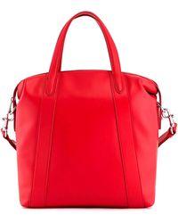 Le Tanneur Grand sac cabas pauline en cuir lisse femme. - Rouge