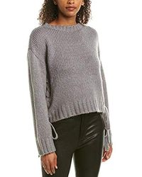 BB Dakota All Tied Up Lace Up Sweater - Gray