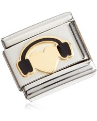Nomination Stainless Steel Gold-plated Enamel 03028301 Love 2 Composable Classic Love - Metallic