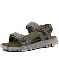Skechers Flex Advantage S Upwell Sandals Uk 9 Olive Grey - Gray