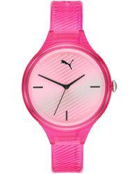 PUMA Contour Polyurethane Watch - Pink