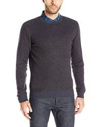 Vince Camuto - Mock Neck Tick Sweater - Lyst