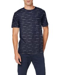 Scotch & Soda Short Sleeve Tee with Allover Print T-Shirt - Blu