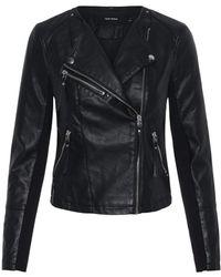 Vero Moda Vmria Fav Short Faux Leather Noos Jacket - Black