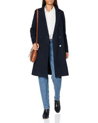 Scotch & Soda Double Breasted Tailored Coat in Wool Blend Cappotto in Lana - Multicolore