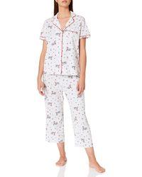 Women'secret ' Secret Pijama Corto Camisero algodón Capri - Multicolor