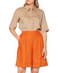 Benetton Bermuda Shorts - Orange