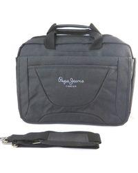 Pepe Jeans Laptop briefcase grigio jeans di pepe (15)- 40x30x14 cm (2 scomparti).