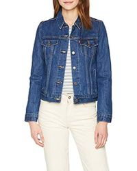 Levi's Original Lined Trucker Giacca in Jeans Donna - Blu