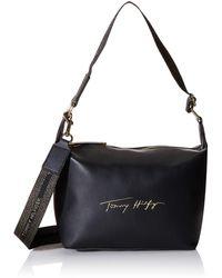Tommy Hilfiger Iconic Hobo Sign Handbag - Black