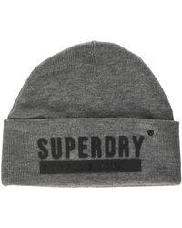Superdry Surplus Silicone Beanie Bonnet - Gris
