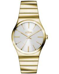 S.oliver Armbanduhr Analog Quarz IP Gold SO-15127-MQR - Mettallic