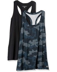 Amazon Essentials 2-Pack Tech Stretch Racerback Tank Top Denim-Outerwear-Vests - Grigio