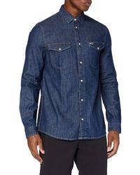 Tommy Hilfiger TJM Western Denim Shirt Chemise - Bleu