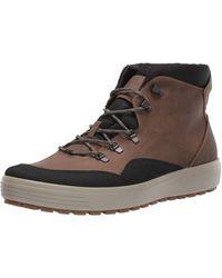Ecco Soft 7 Tred M Hohe Sneaker - Braun