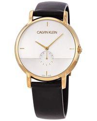 Calvin Klein - Quartz Montre avec Bracelet en Cuir K9H2X5C6 - Lyst