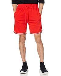 DIESEL Pan Drawstring Sweat-shorts Pyjama Bottom - Red