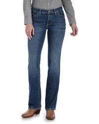 Wrangler Willow Mid Rise Boot Cut Ultimate Riding Jean - Blue