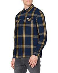 Wrangler Ls Western Shirt Slim Fit Casual Shirt - Blue