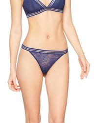 Iris & Lilly Thong Graphic Sexy Lace Front Blue (navy) X-large