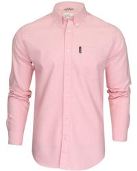 Ben Sherman Pink Casual Shirt In Lge To Xxxl Signature