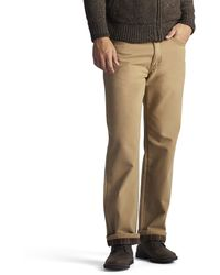 Lee Jeans Fce And Flannel Lined Relaxed-fit Straight-leg Jeans - Multicolor
