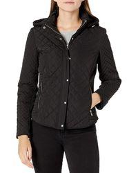Calvin Klein Short Quilt Jacket - Black