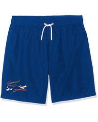 Lacoste Short de Bain - - Bleu