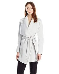 Tahari - Draped Trench Wrap Coat - Lyst