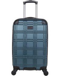 "Ben Sherman Nottingham 20"" Carry-on Lightweight Hardside 4-wheel Spinner Cabin Size Travel Suitcase - Green"