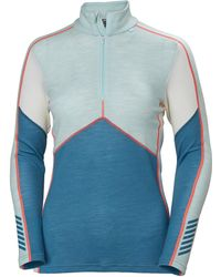 Helly Hansen W Hh Lifa Merino 1/2 Zip Sports Shirt - Blue