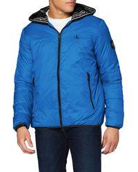 Calvin Klein Logo Padded Jacket Giacca - Blu